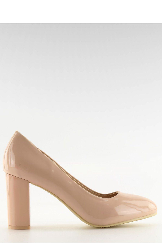 Inello Escarpins talon large model 110560 beige - Chaussures Escarpins Femme